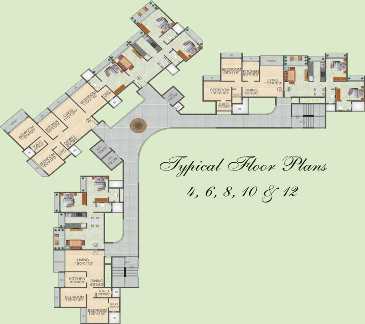 1300 sq ft 2 bhk 2t apartment for sale in juhi greens