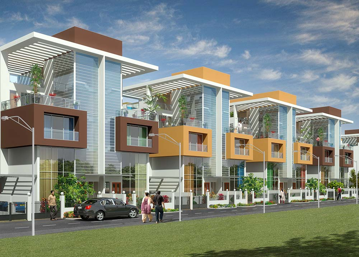 Shah orchid villas by shah group builders in kharghar Villa designs india