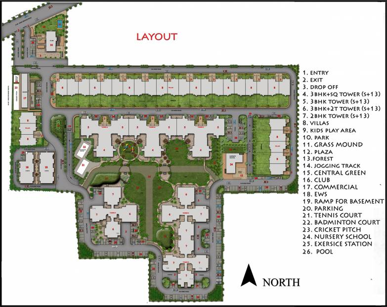 heights Images for Layout Plan of Ansal Heights
