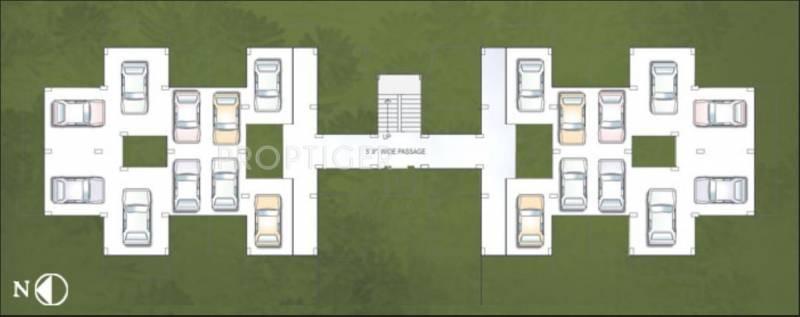 Rainbow Developers Panorama Stilt Floor Cluster Plan