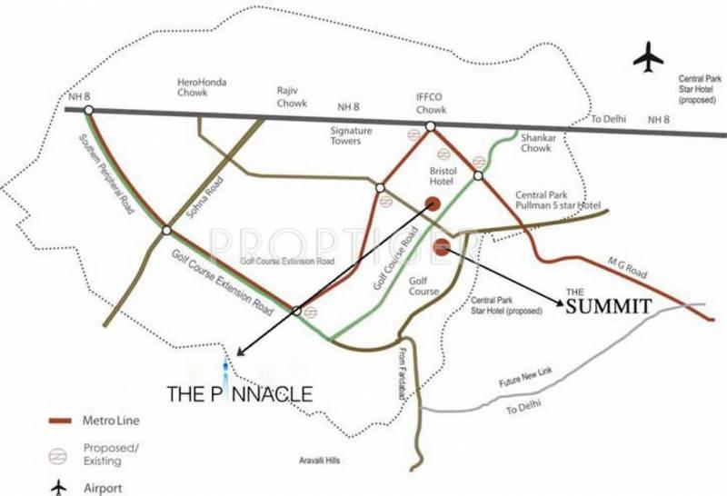 pinnacle Images for Location Plan of DLF Pinnacle