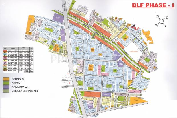 phase-1 Images for Site Plan of DLF Phase 1