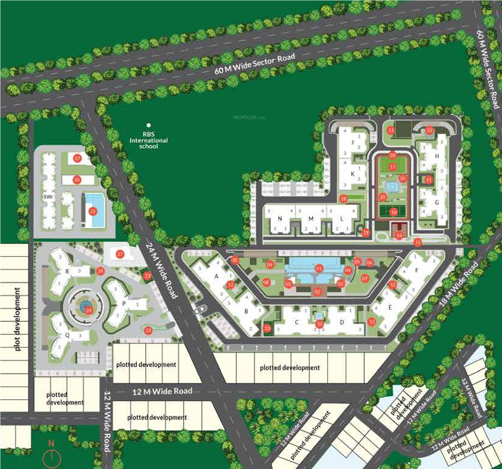 1862 Sq Ft 3 Bhk 3t Apartment For Sale In Anant Raj Group