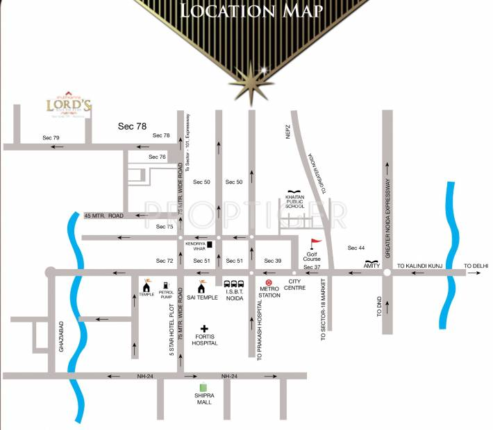 lords Images for Location Plan of Shubhkamna Lords