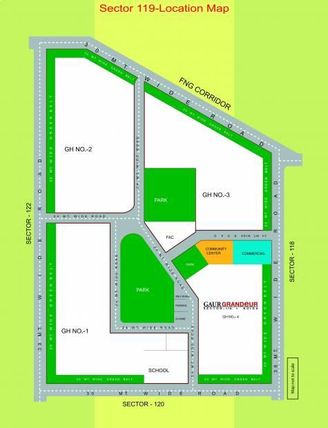 Images for Location Plan of Gaursons Gaur Grandeur
