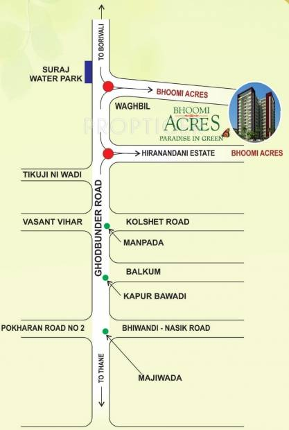 acres Images for Location Plan of Bhoomi Acres