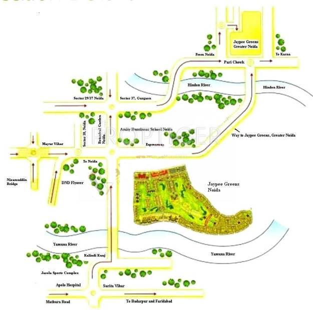 kensington-park-apartments Images for Location Plan of Jaypee Kensington Park Apartments