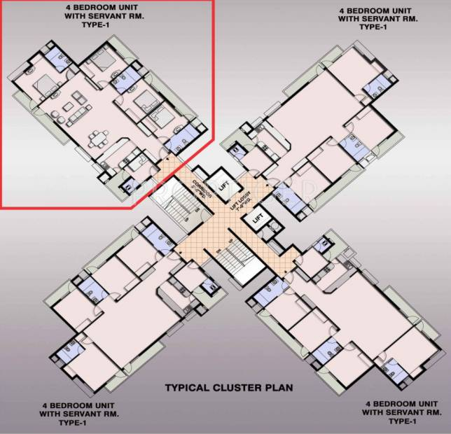Images for Cluster Plan of Ansal Fairway Apartment