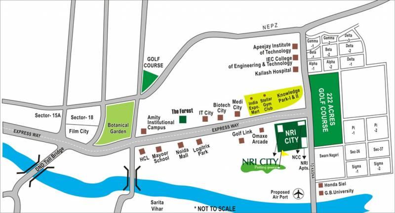 nri-city Images for Location Plan of Omaxe NRI City