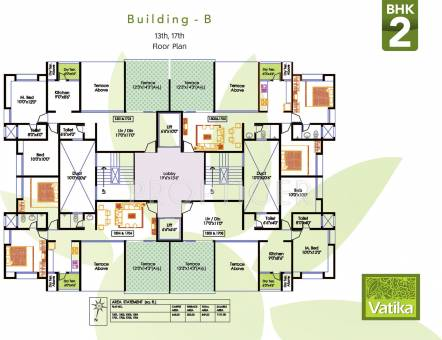 1829 sq ft 3 bhk 3t apartment for sale in bhujbal vatika for 13th floor in buildings