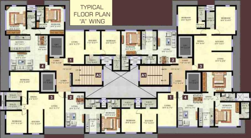 swaroop-residency Images for Cluster Plan of Ashoka Swaroop Residency