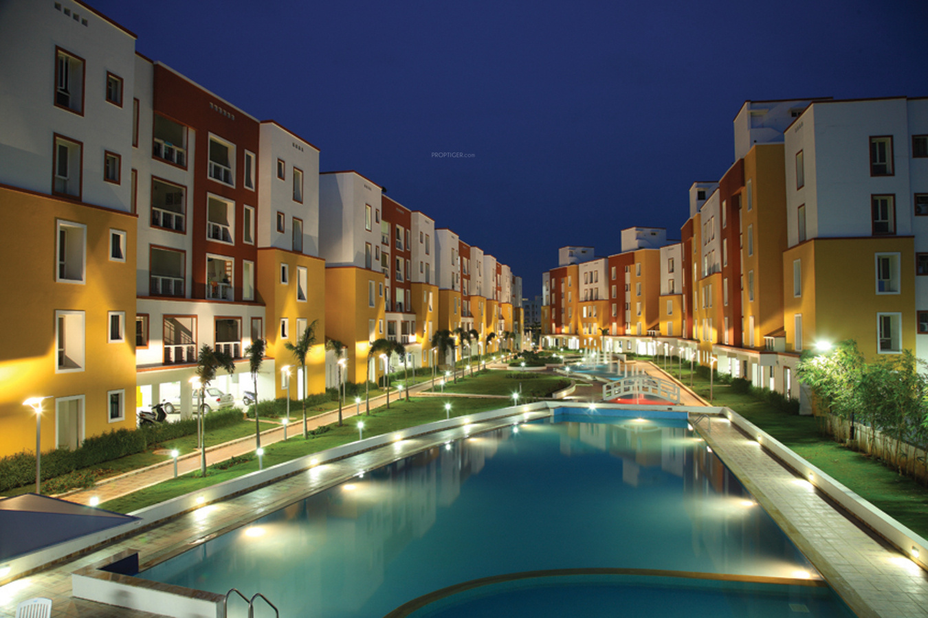 2 Floor Apartment Elevation : Lancor the central park in sholinganallur chennai price