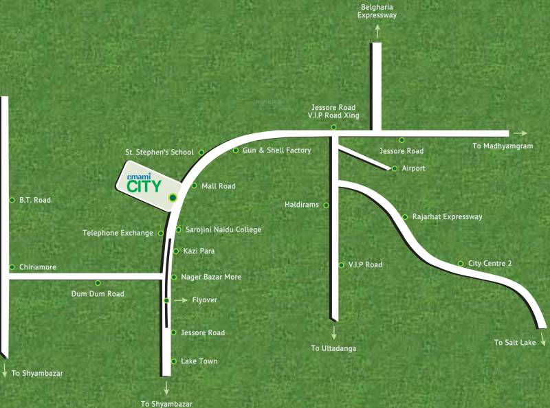 city Images for Location Plan of Emami City