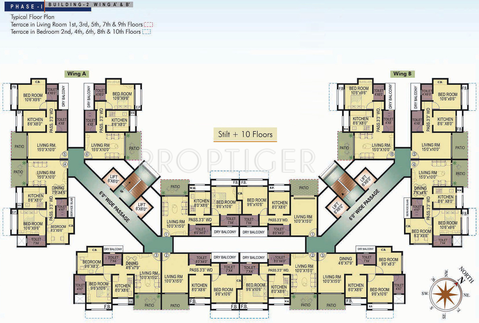 1075 Sq Ft 2 Bhk 2t Apartment For Sale In Rutu Riverside