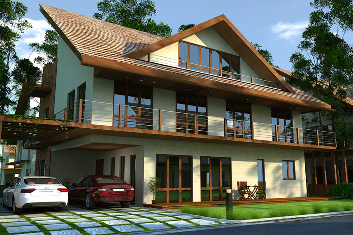 Front Elevation Of Villas In Bangalore : Main elevation image of hebron properties enclave unit