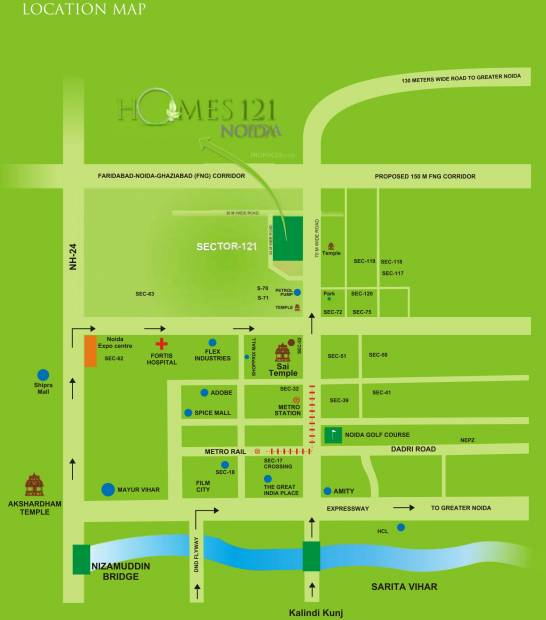 Images for Location Plan of Ajnara Homes121