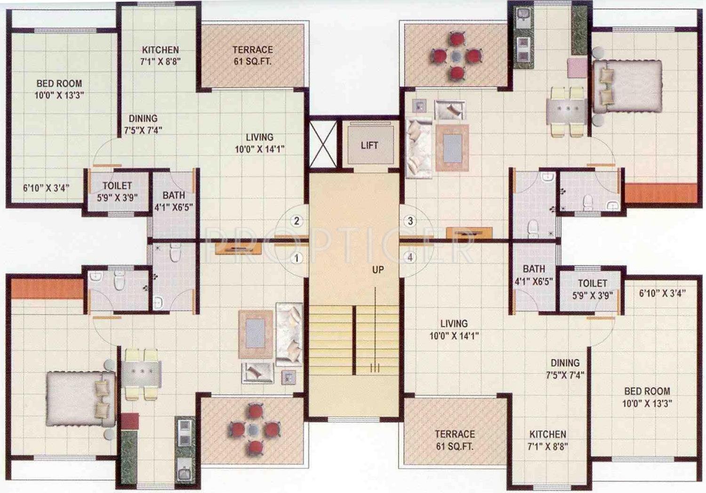 1346 sq ft 3 bhk 3t apartment for sale in super sai nagar for Bhk laminate flooring