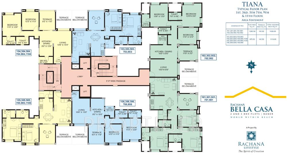 Rachana bella casa in sus pune price location map for Casa bella floor plan