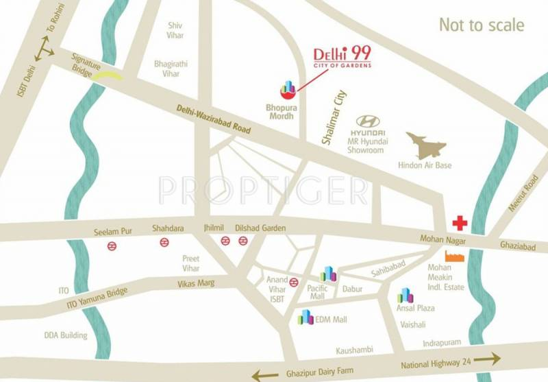 Images for Location Plan of MR Proview Delhi 99