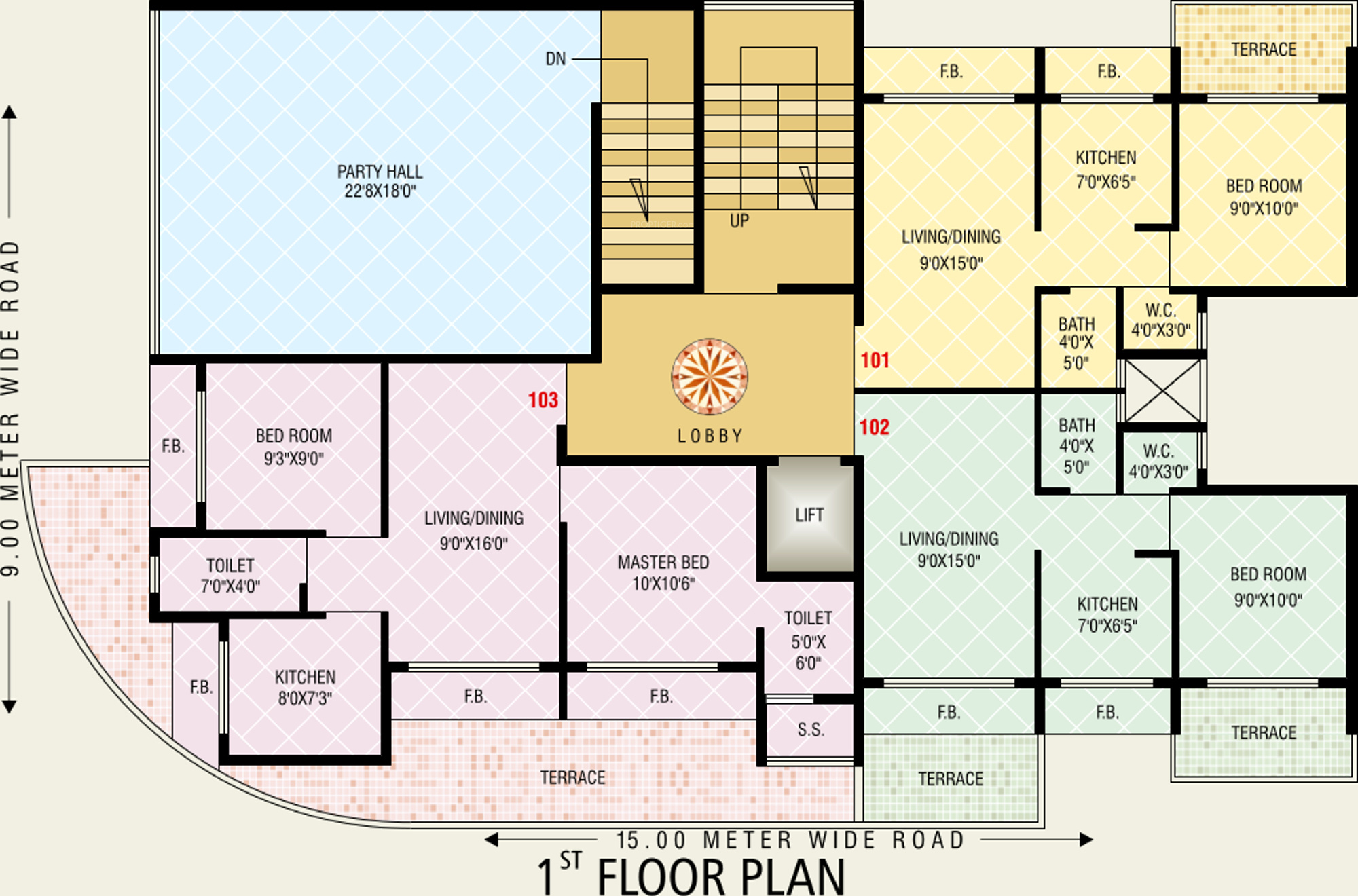 925 Sq Ft 2 Bhk 2t Apartment For Sale In Today Shree