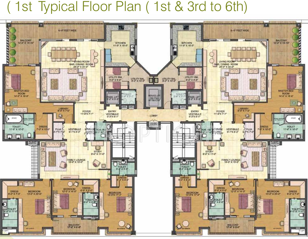 4600 sq ft 4 bhk 4t apartment for sale in jaypee greens for 125 court street floor plans