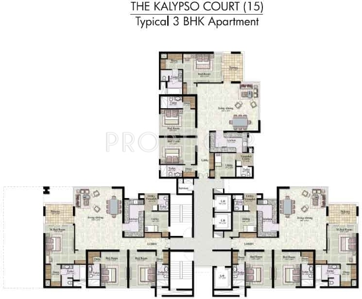 Images for Cluster Plan of Jaypee The Kalypso Court
