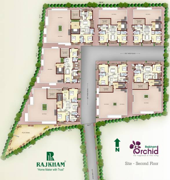 Images for Cluster Plan of Rajkham Orchid