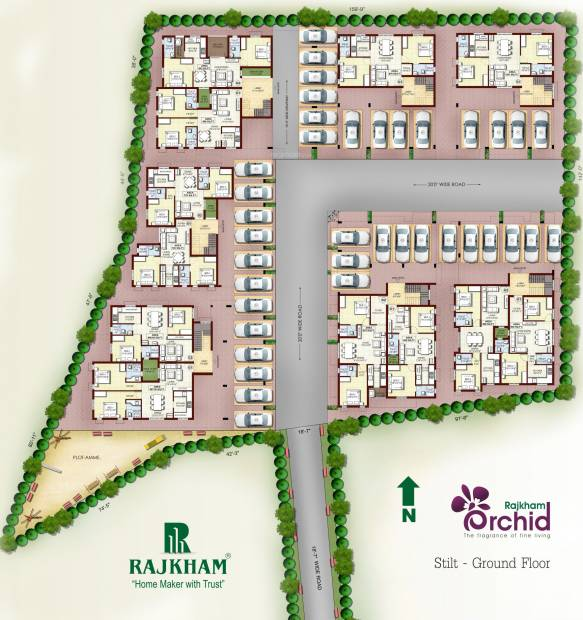 Images for Cluster Plan of Rajkham Orchid