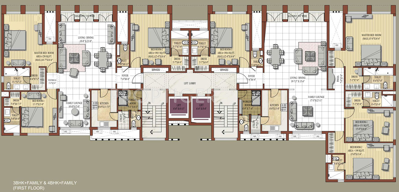 2300 sq ft 3 bhk 4t apartment for sale in jaypee greens for 125 court street floor plans