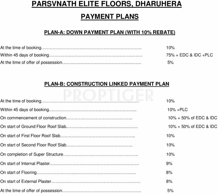 Images for Payment Plan of Parsvnath Elite Floors