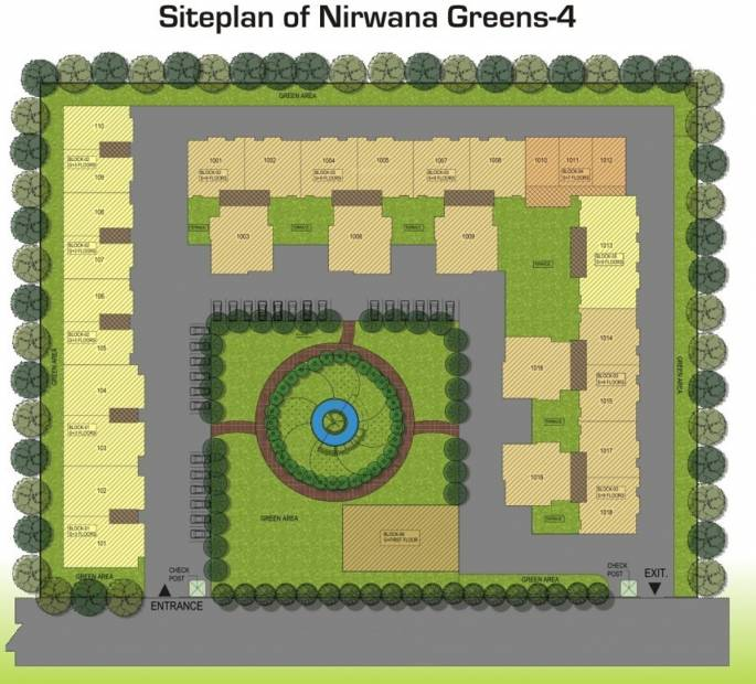 Images for Site Plan of Vision Nirwana Greens 4