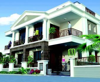 Images for Elevation of JP Iscon Villas