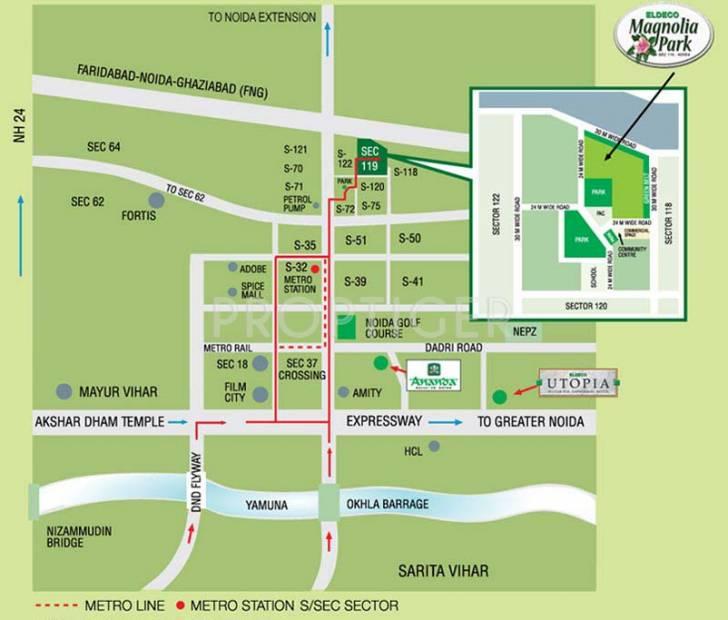magnolia-park Images for Location Plan of Eldeco Magnolia Park