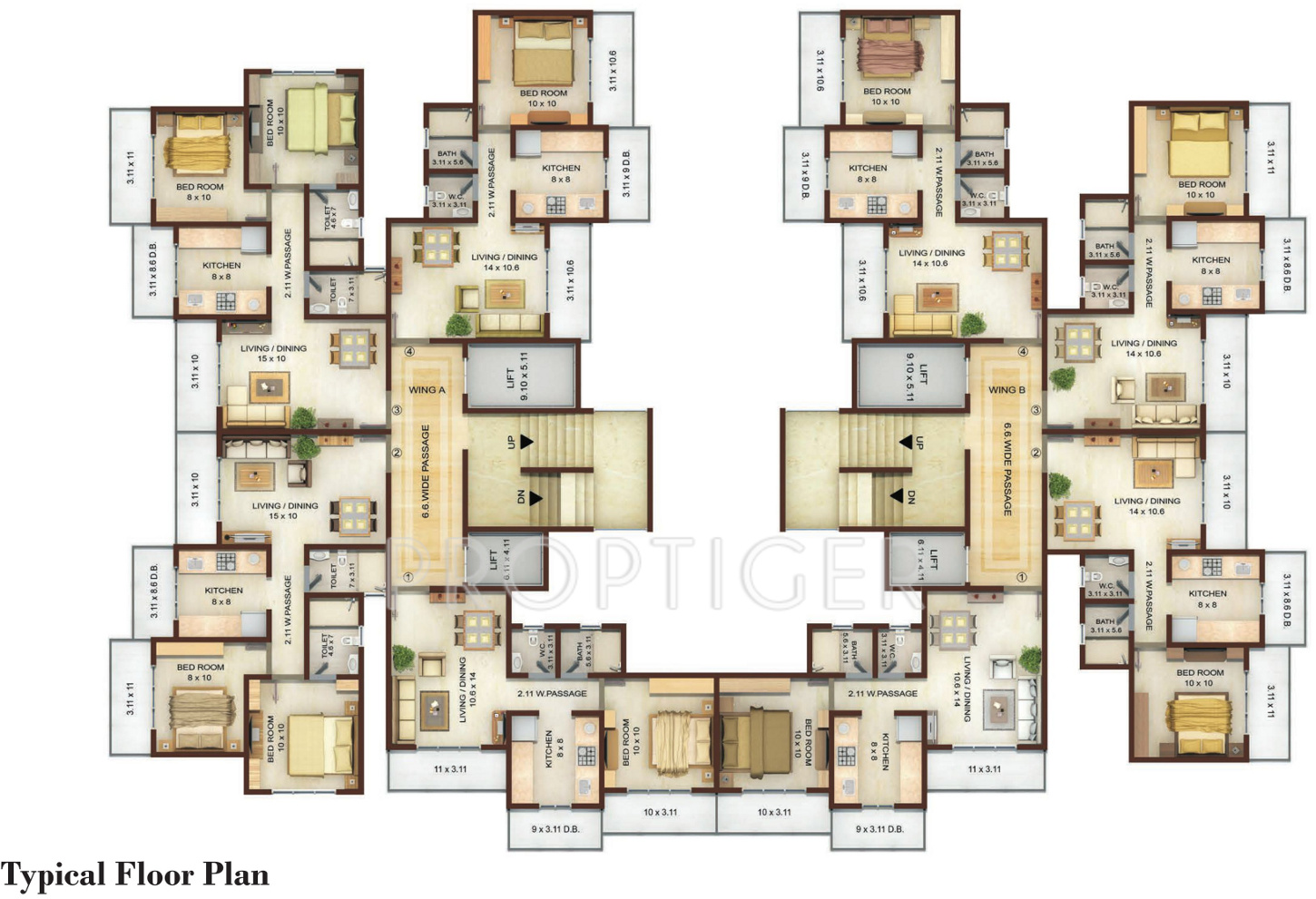 640 Sq Ft 1 Bhk 1t Apartment For Sale In Keemaya And Mlh