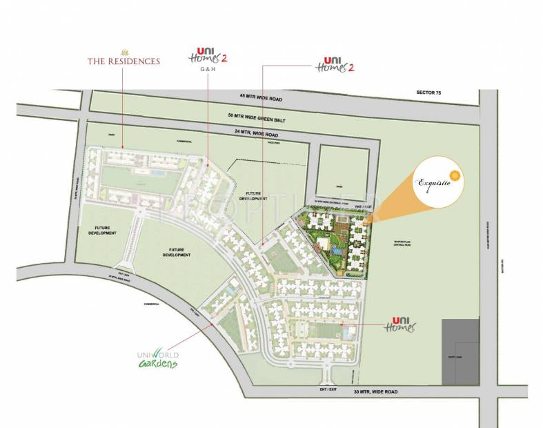 Images for Master Plan of Unitech Exquisite
