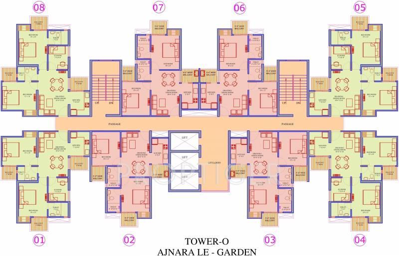 Images for Cluster Plan of Ajnara Le Garden