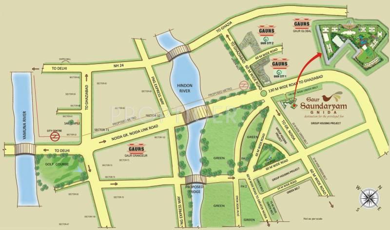 saundaryam Images for Location Plan of Gaursons Saundaryam