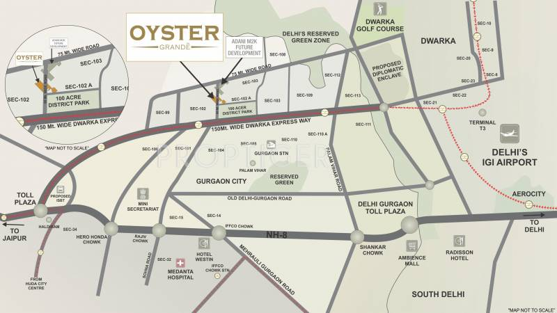 oyster-grande Images for Location Plan of Adani Oyster Grande