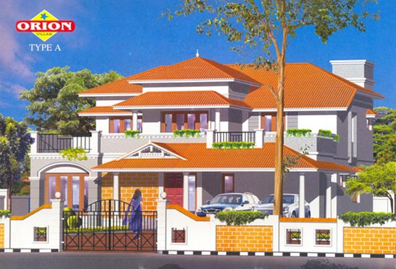2273 sq ft 4 bhk 3t villa for sale in skyline builders for Villa elevation photos