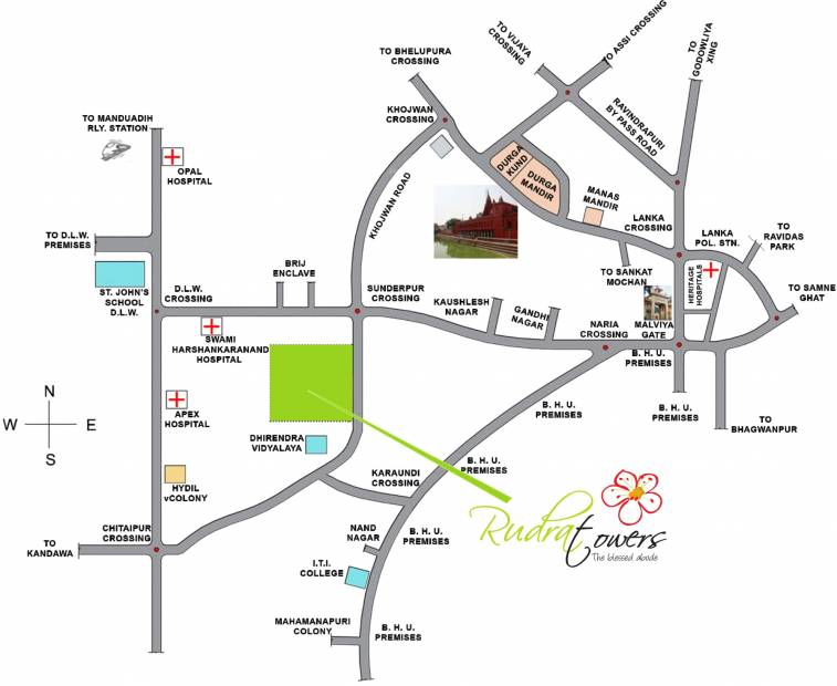 Images for Location Plan of Rudra Real Estate Rudra Towers