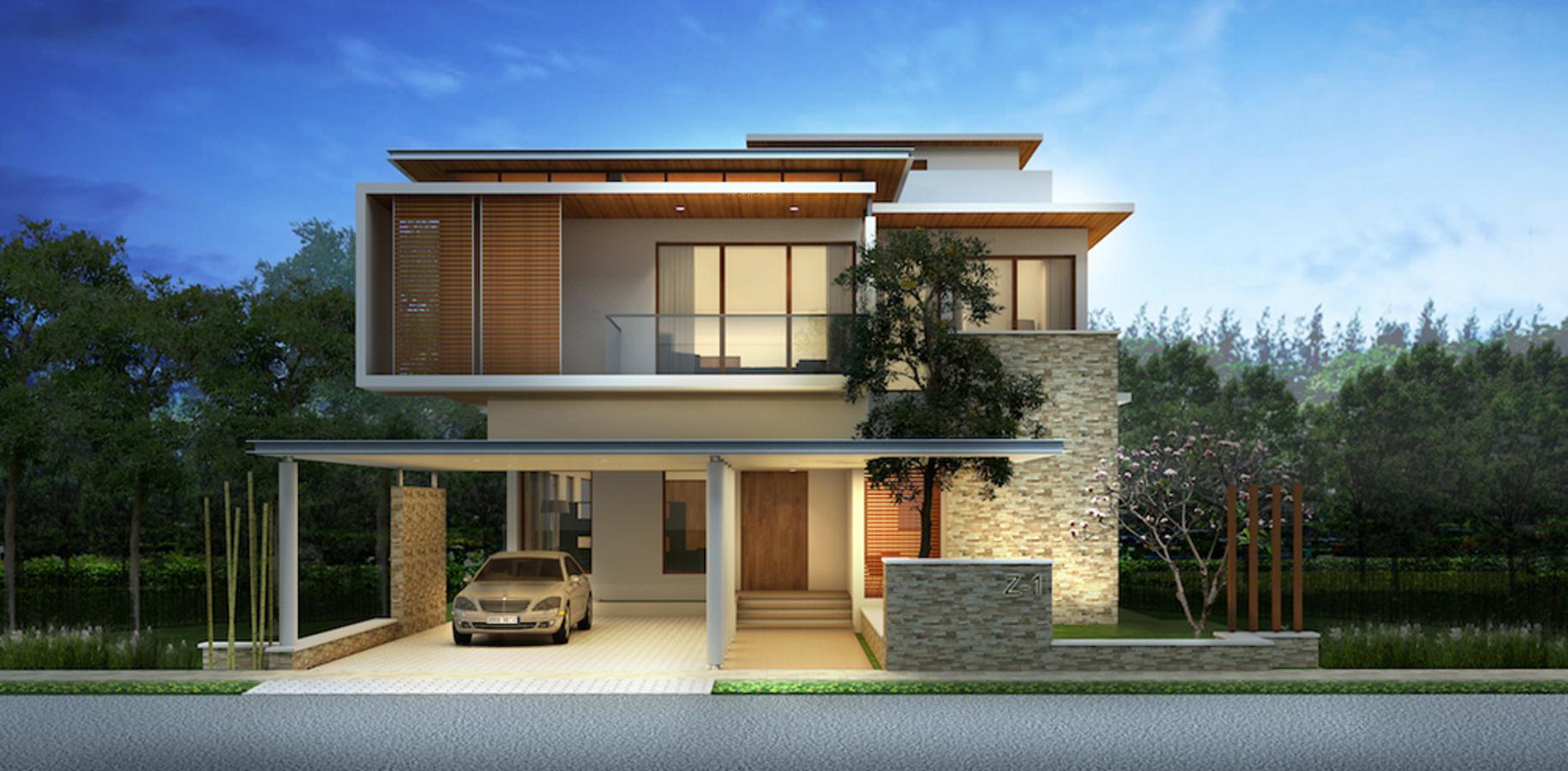 Main elevation image 2 of mantri group signature villa for Villas elevations photo gallery
