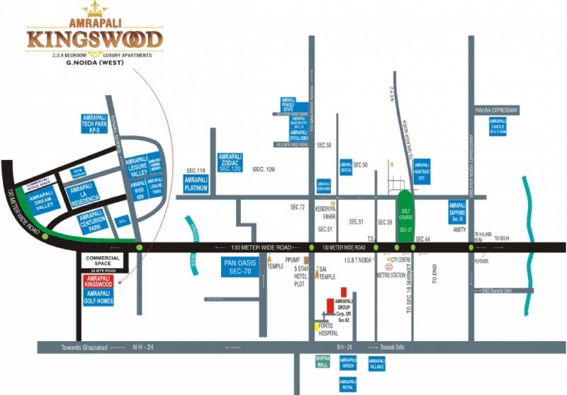 Images for Location Plan of Amrapali Kingswood