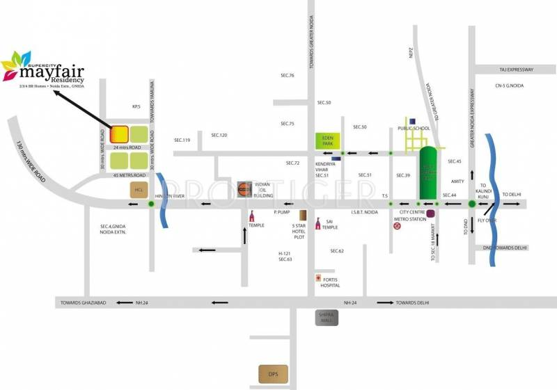 Images for Location Plan of Supercity Mayfair Residency