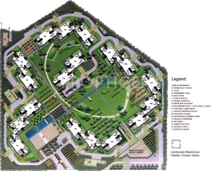 habitat Images for Layout Plan of Unitech Habitat