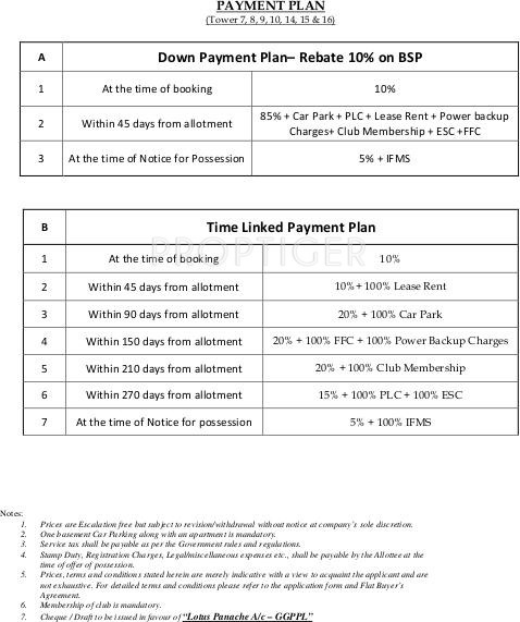 Images for Payment Plan of 3C Lotus Panache