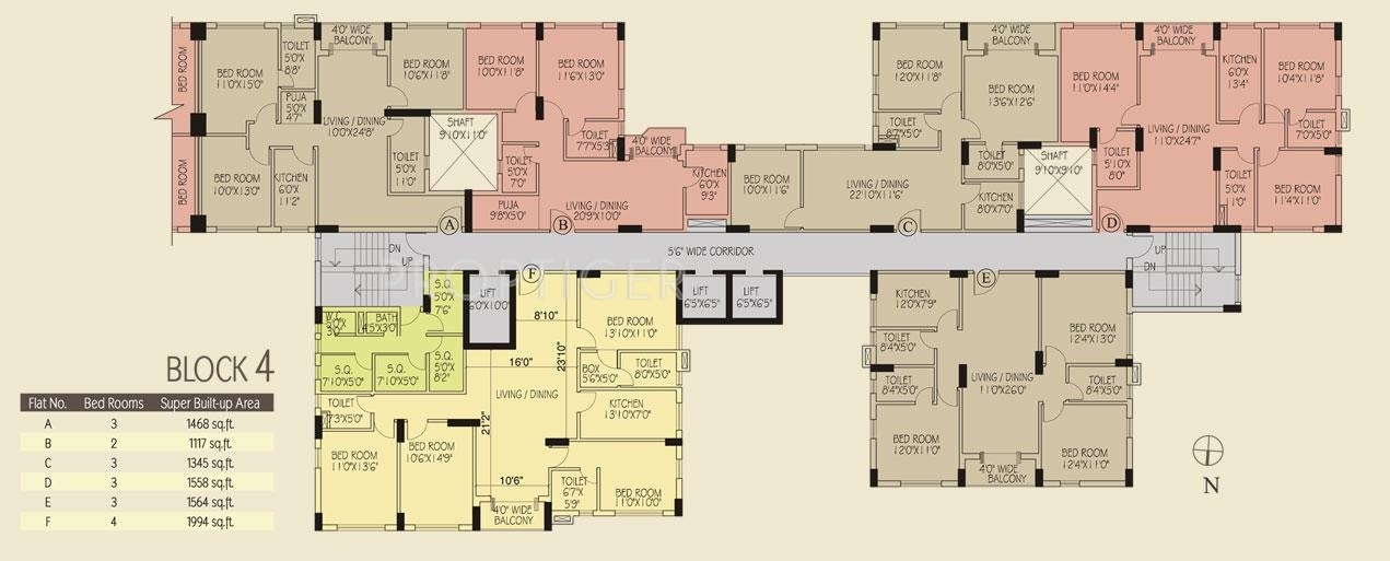 1212 sq ft 2 bhk 2t apartment for sale in avani group for Oxford floor plan
