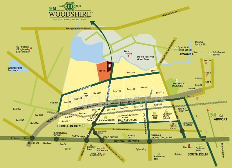 woodshire Images for Location Plan of M3M Woodshire