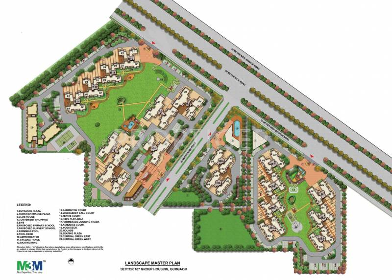 woodshire Images for Master Plan of M3M Woodshire