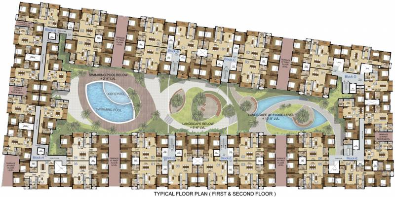 Images for Cluster Plan of Lancor The Central Park Lake Front