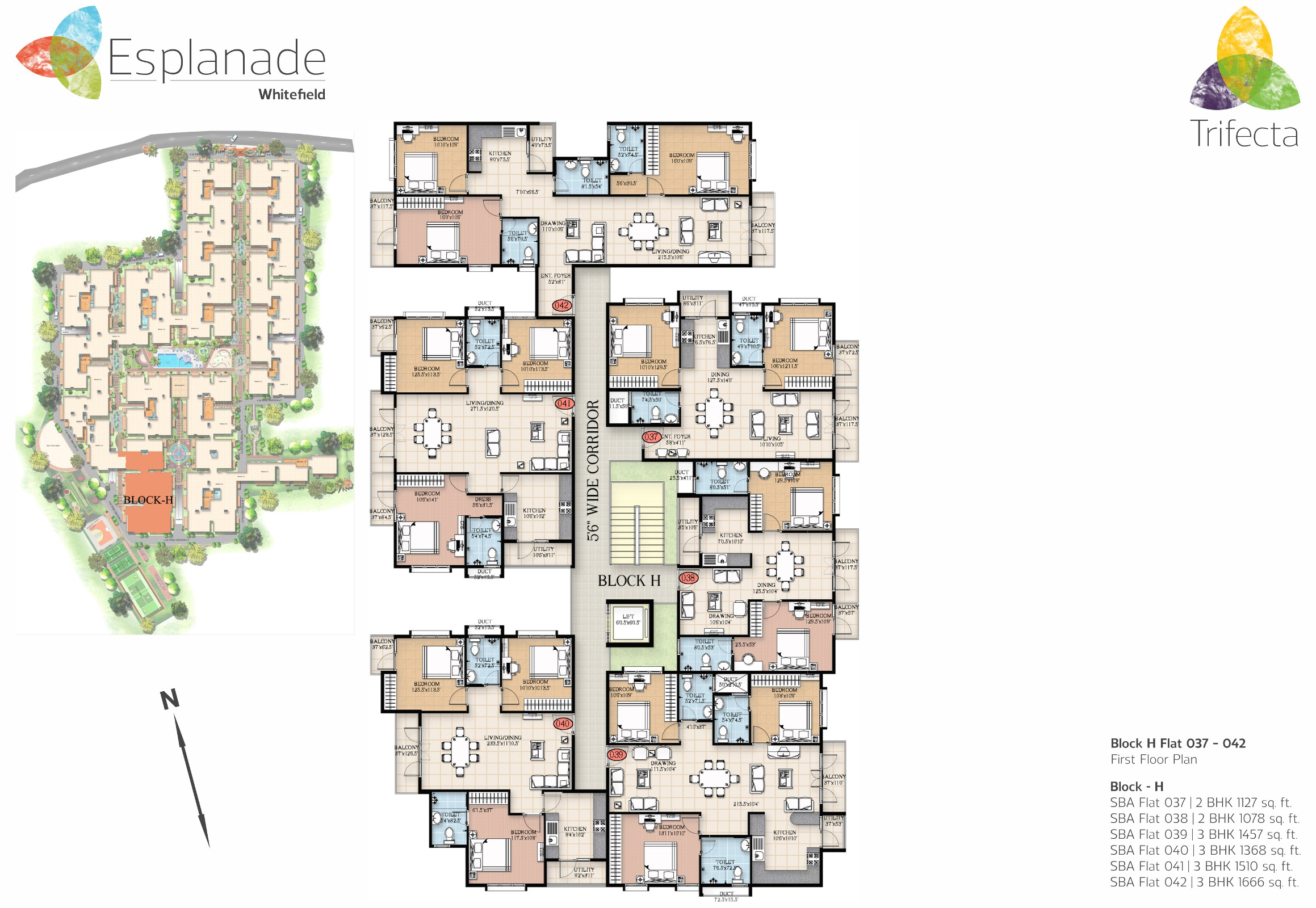 1382 Sq Ft 3 Bhk 2t Apartment For Sale In Trifecta